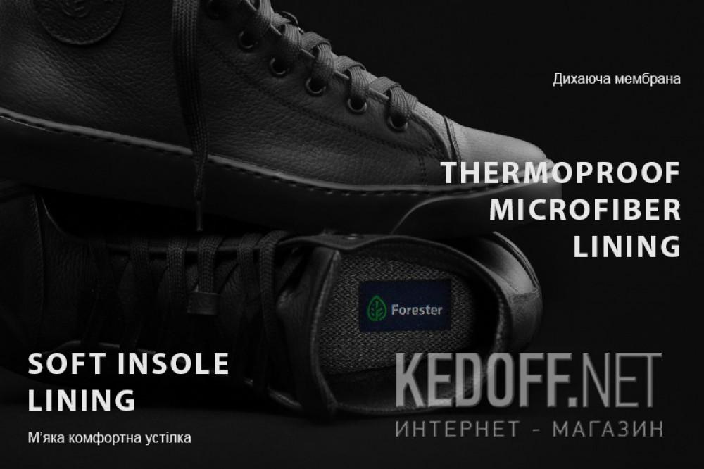 Шкіряні кеди Forester Black Monochrome Termomembrane 132125-272 звичайні Шкіряні шнурки