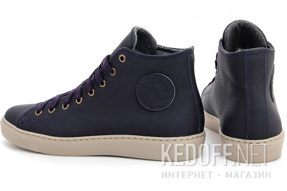 Leather shoes Forester 132125-891MB unisex (Dark blue) все размеры