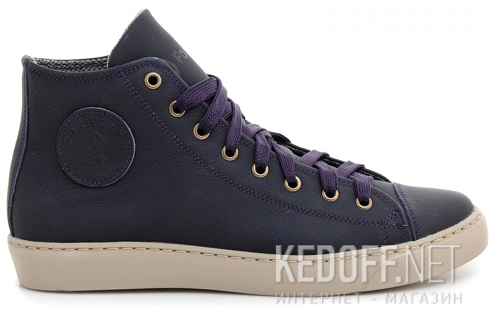 Leather shoes Forester 132125-891MB unisex (Dark blue) доставка по Украине