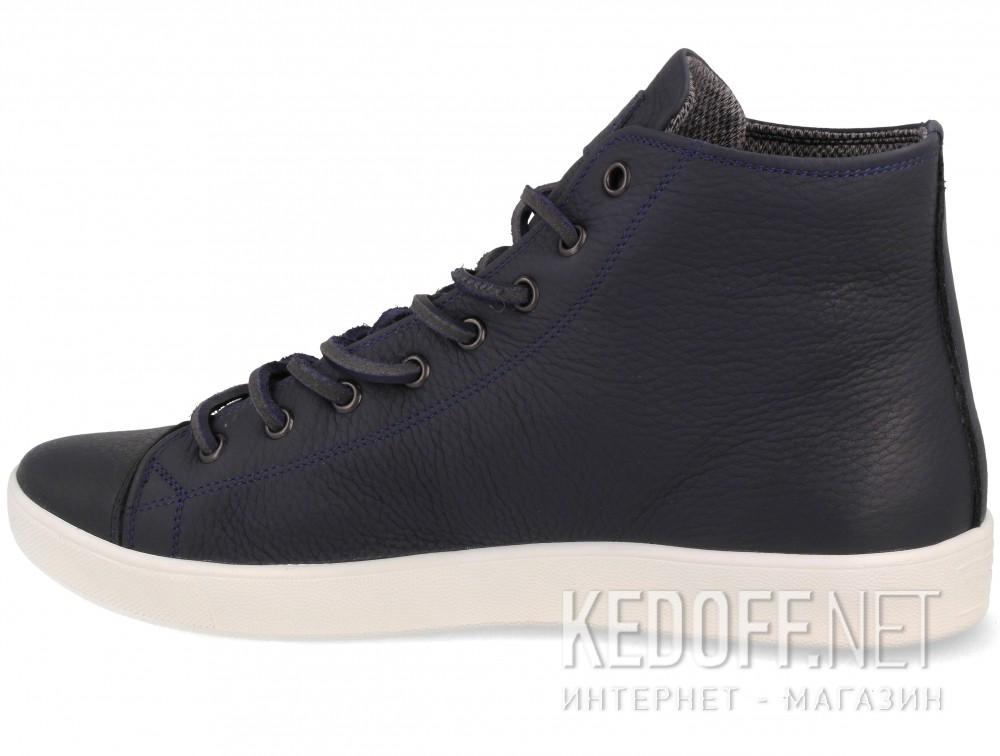 Цены на Мужские кожаные кеды Forester Ergolight 132125-8913 унисекс (тёмно-синий/синий)