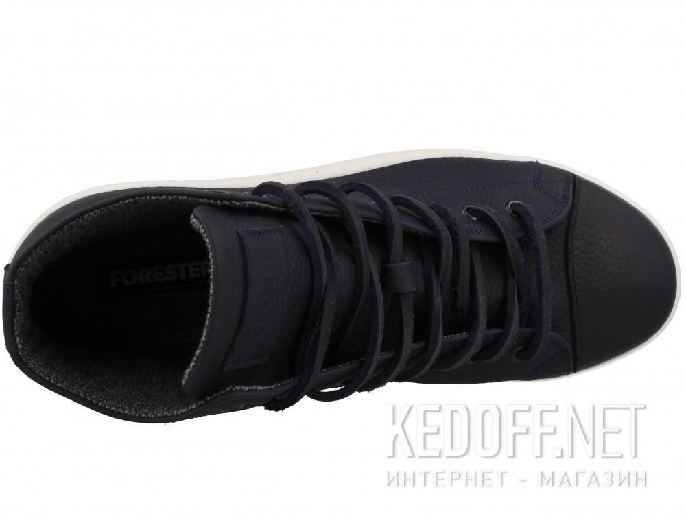 Мужские кожаные кеды Forester Ergolight 132125-8913 унисекс (тёмно-синий/синий) доставка по Украине