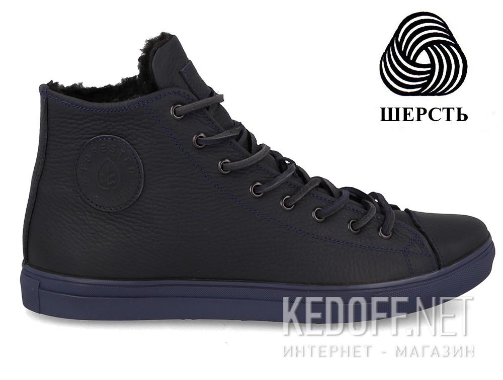 Мужские кеды Forester Whool Navy 132125-8984   (тёмно-синий) купить Киев