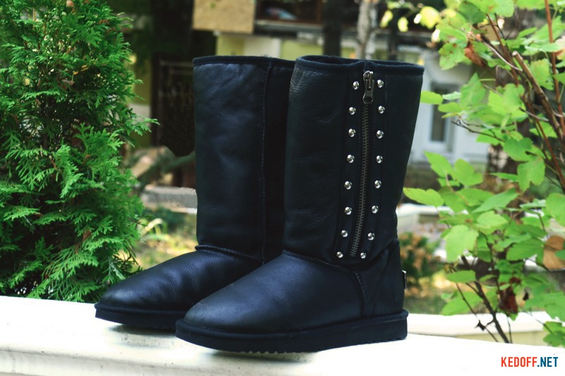 Sheepskin Boots Forester 138308-2002 Black with zipper