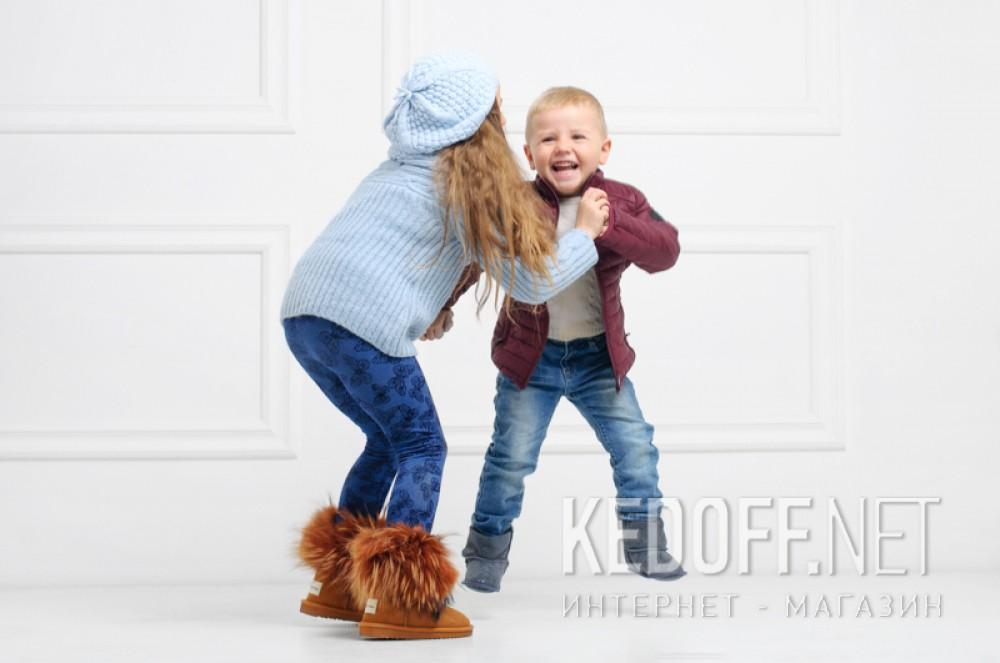 Kids sheepskin boots Forester 143101-2812 Home