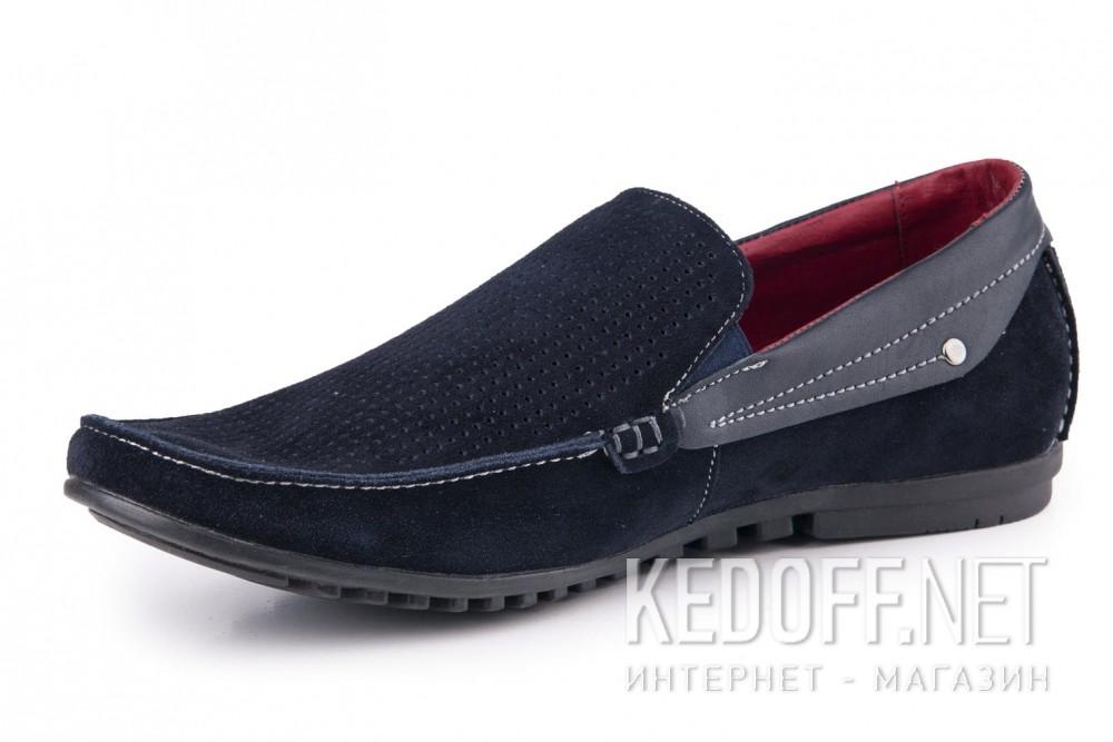 Мужские мокасины Forester 1610-320 син замш-R   (синий) купить Украина