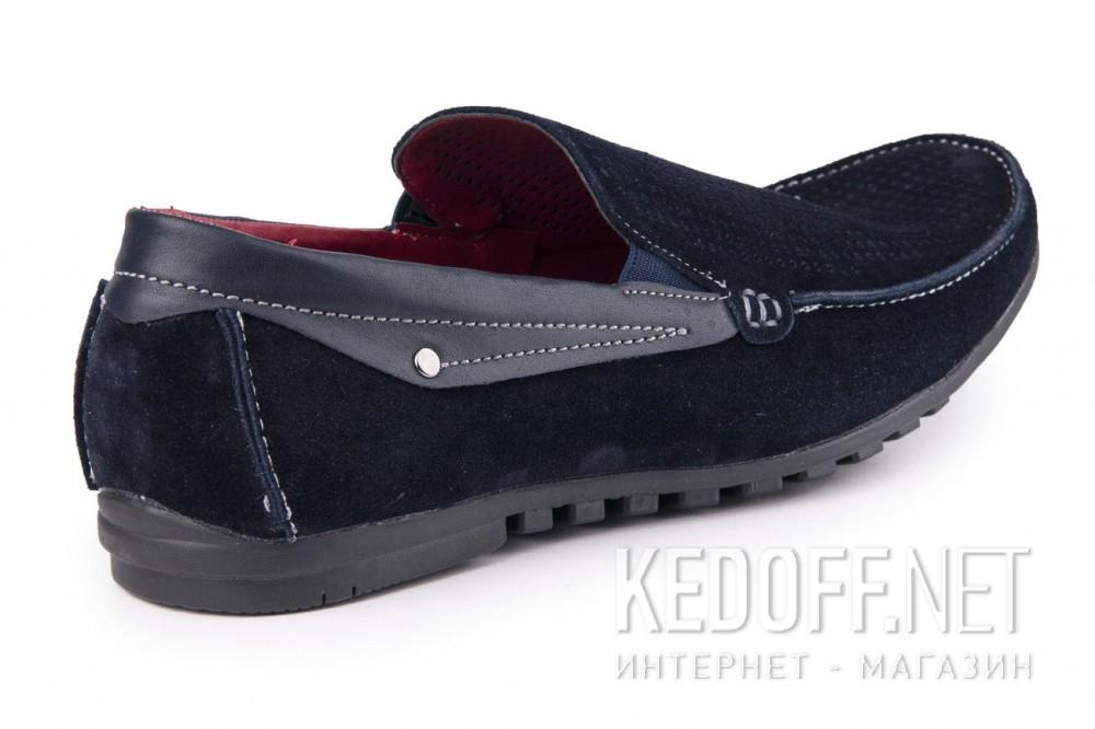 Мужские мокасины Forester 1610-320 син замш-R   (синий) купить Киев