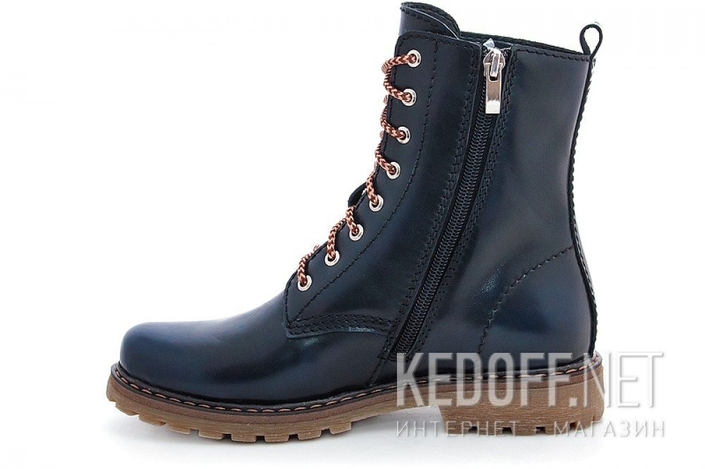 Insulated boots Forester 3558-89 Dark Navy Leather