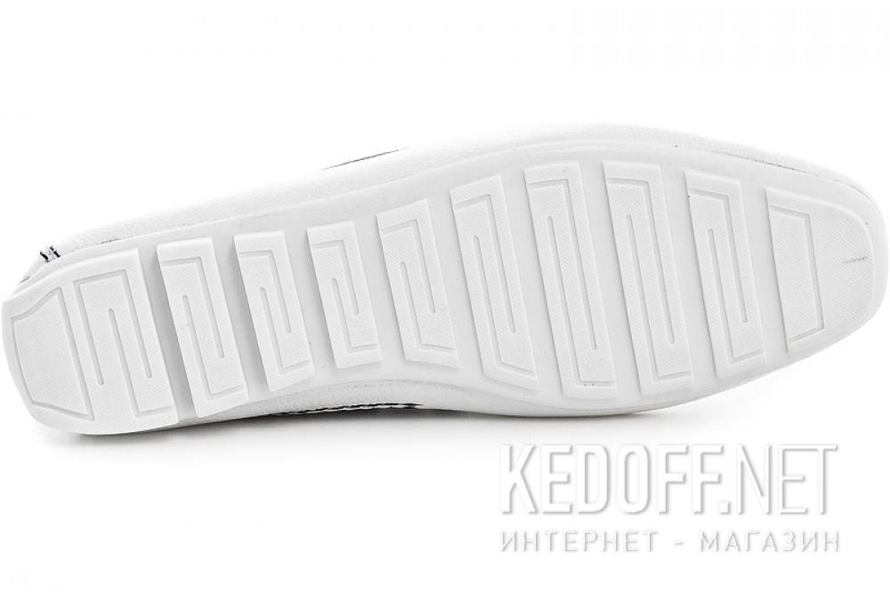 Мужские мокасины Forester 4125-13 Белая кожа