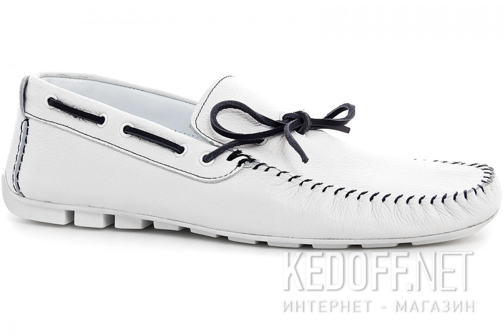 Men's loafers Forester 4125-13 White Leather