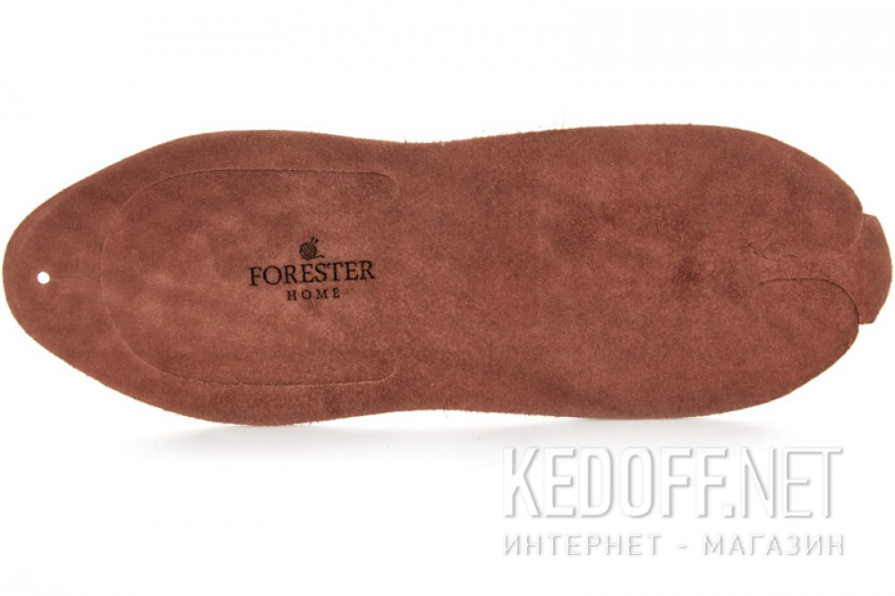 Leather flip flops Forester Home 4172-5 Light brown