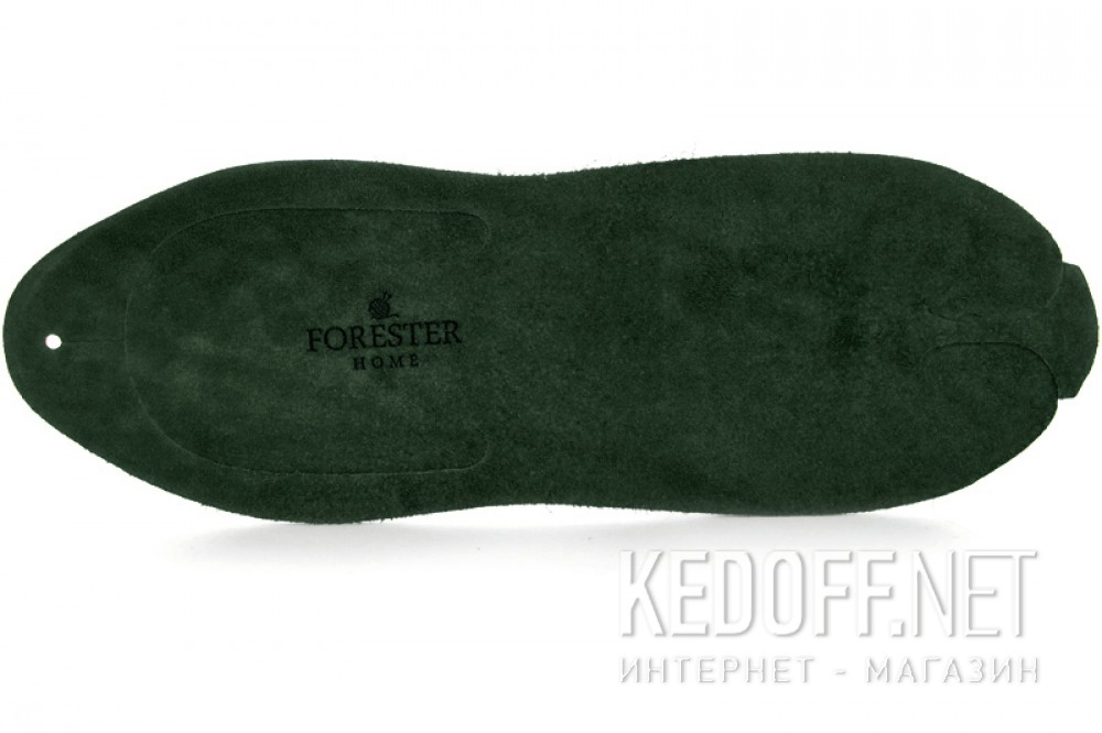 Leather flip flops Dark Green Forester Home 4172-7