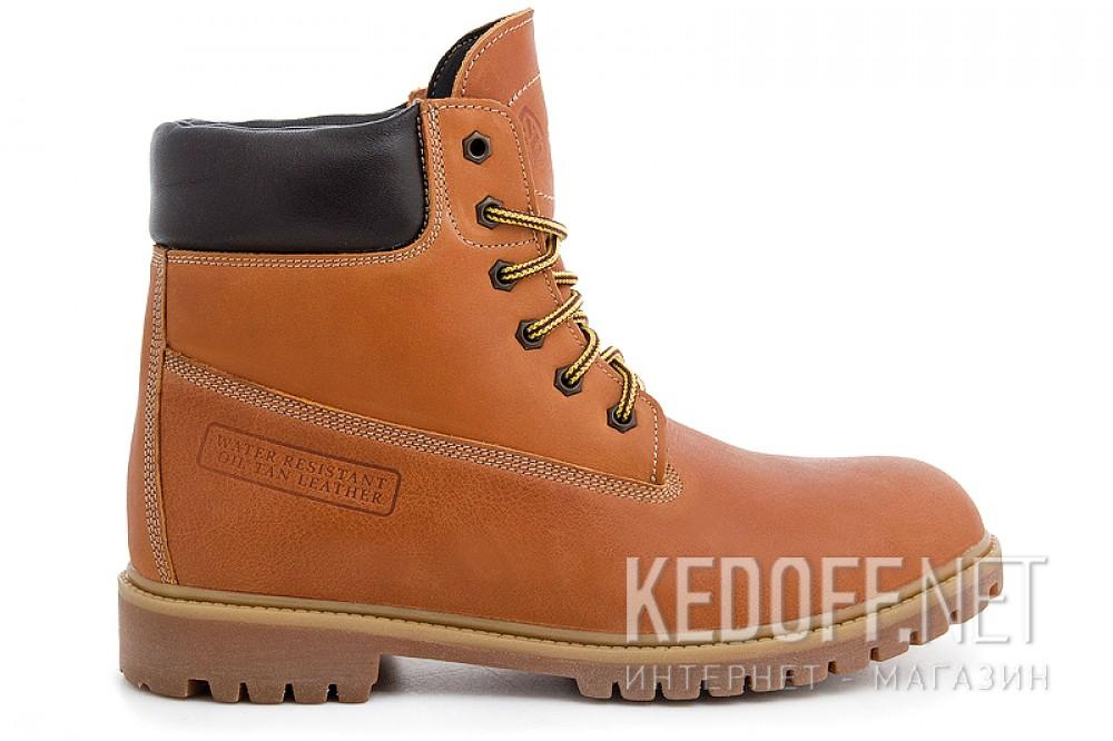 Желтые ботинки Forester Camel Leather 4563-74 Кожаные, На меху