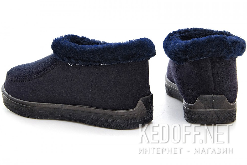 Homemade insulated shoes Forester Navy 4695 the dark blue