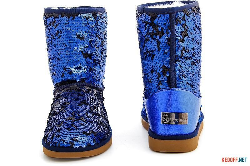 Уггі Forester 5005-616 Сині пайєтки