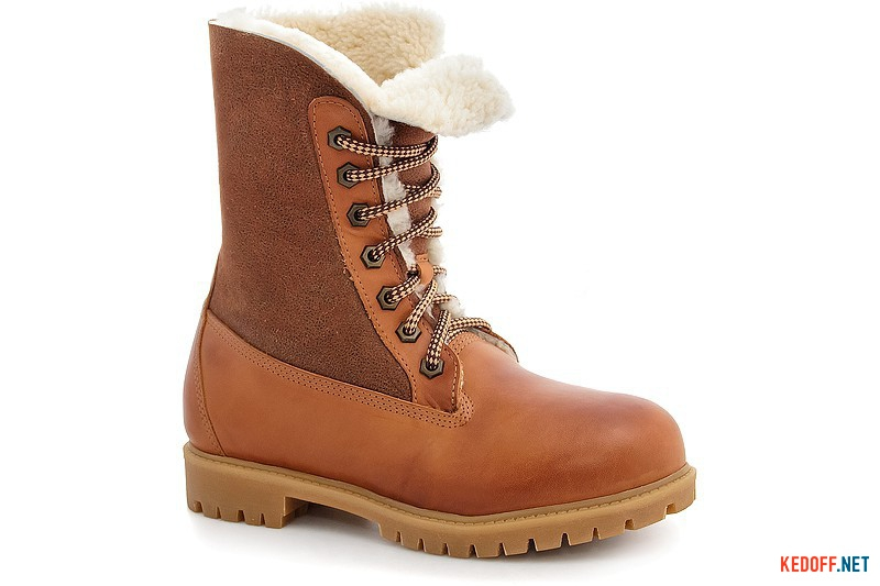 Winter boots, fur-lined Forester 50919-225246 taba leather