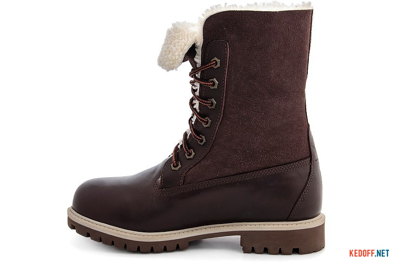 Winter boots with fur Forester 50919-225651 chocolate leather