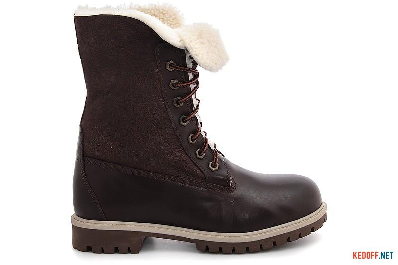 Зимові черевики на хутрі Forester 50919-225651 шоколадна шкіра