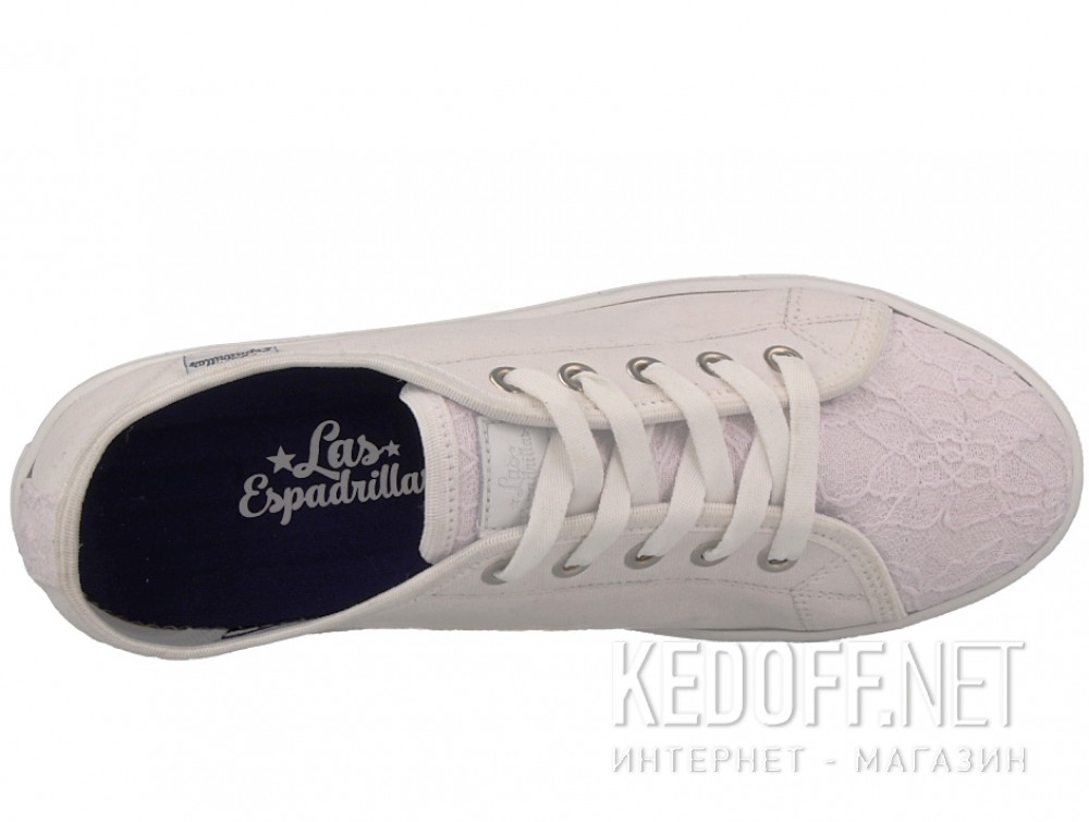 Полукеды Las Espadrillas Optical White Makrame 5099-13