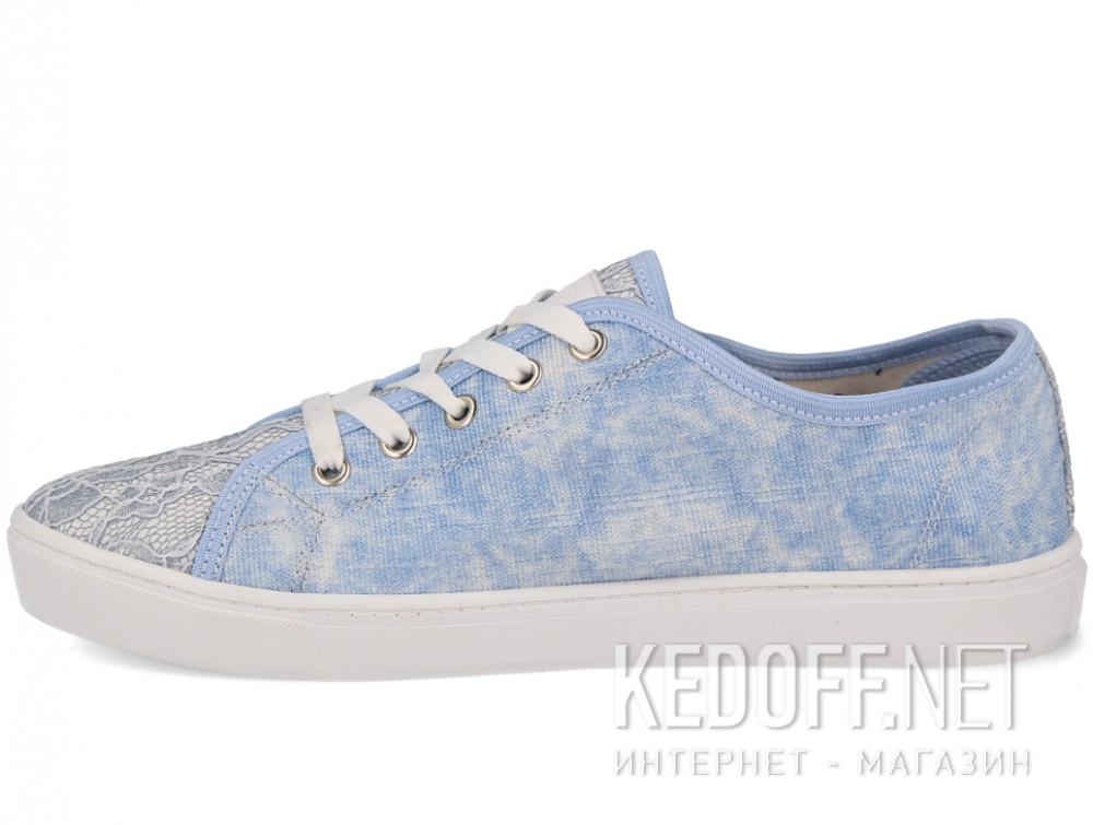 Вансы Las Espadrillas 5099-42 унисекс   (голубой) купить Украина