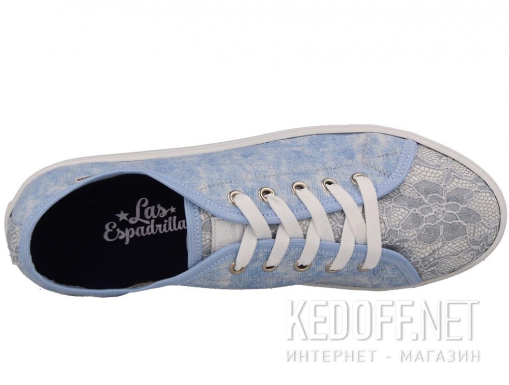 Полукеды Las Espadrillas Sky Blue Makrame 5099-42