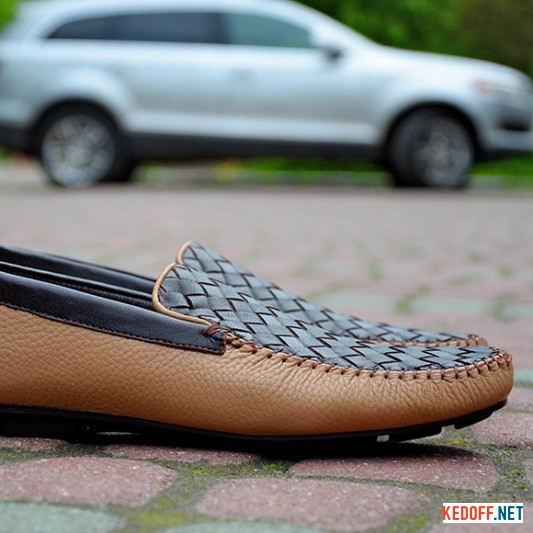Loafers Forester 7181 Brown | Beige Leather
