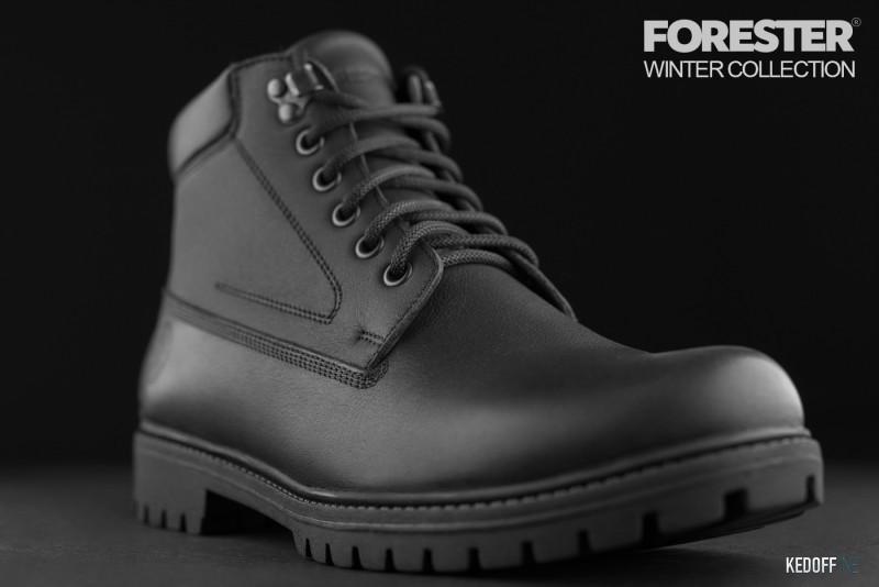 Ботинки Forester Black Wood 751-27 Утеплённые мехом Фото 12