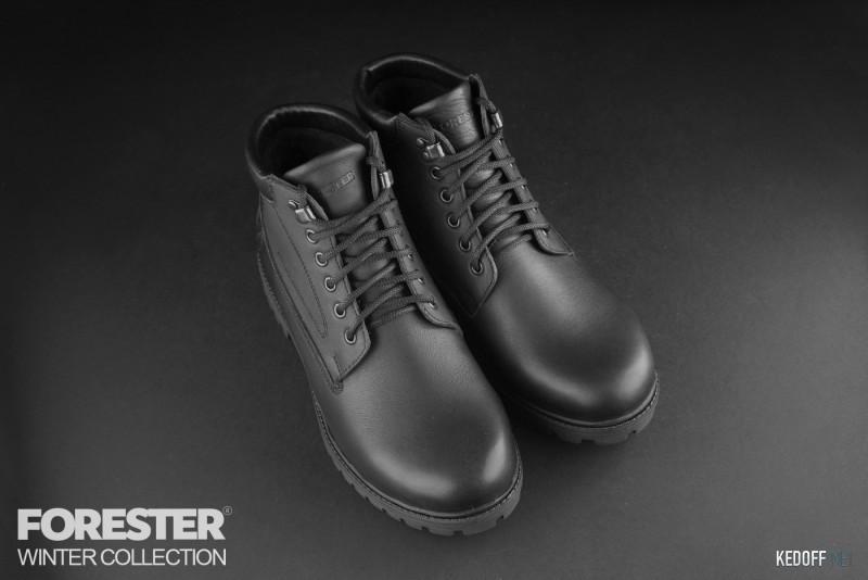 Ботинки Forester Black Wood 751-27 Утеплённые мехом Фото 13