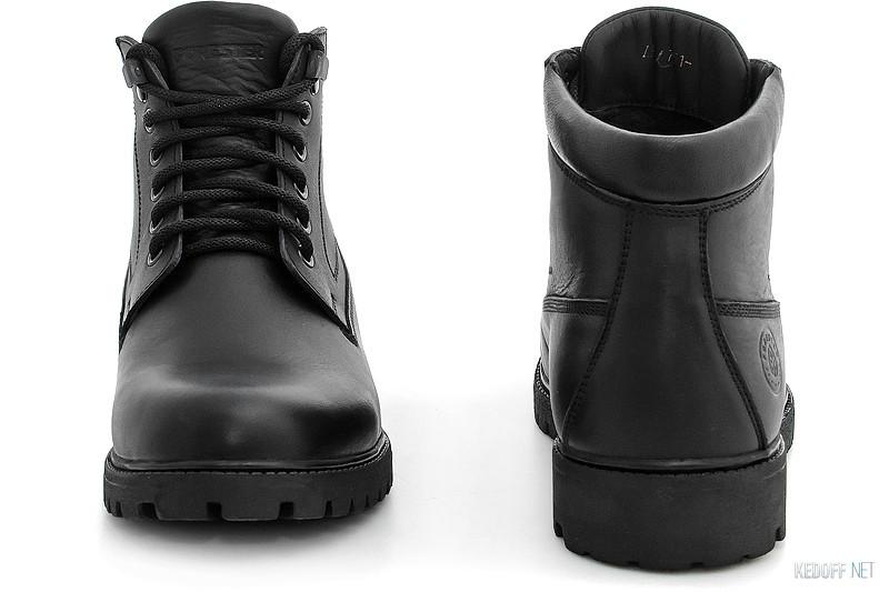 Ботинки Forester Black Wood 751-27 Утеплённые мехом купить Киев