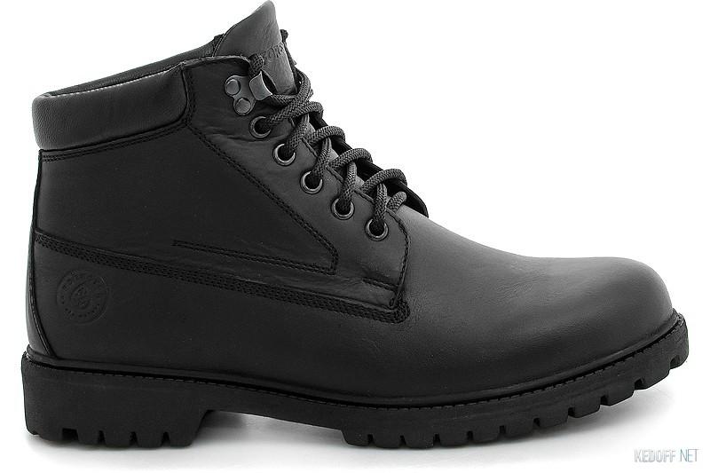 Оригинальные Ботинки Forester Black Wood 751-27 Утеплённые мехом