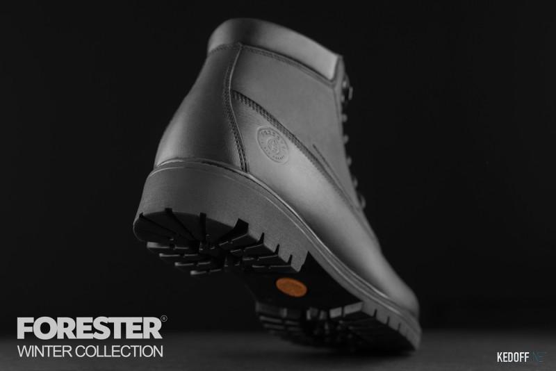 Ботинки Forester Black Wood 751-27 Утеплённые мехом