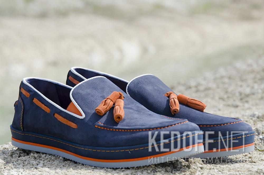 Men's loafers Forester 7518-89 Blue nubuck | Orange nuts