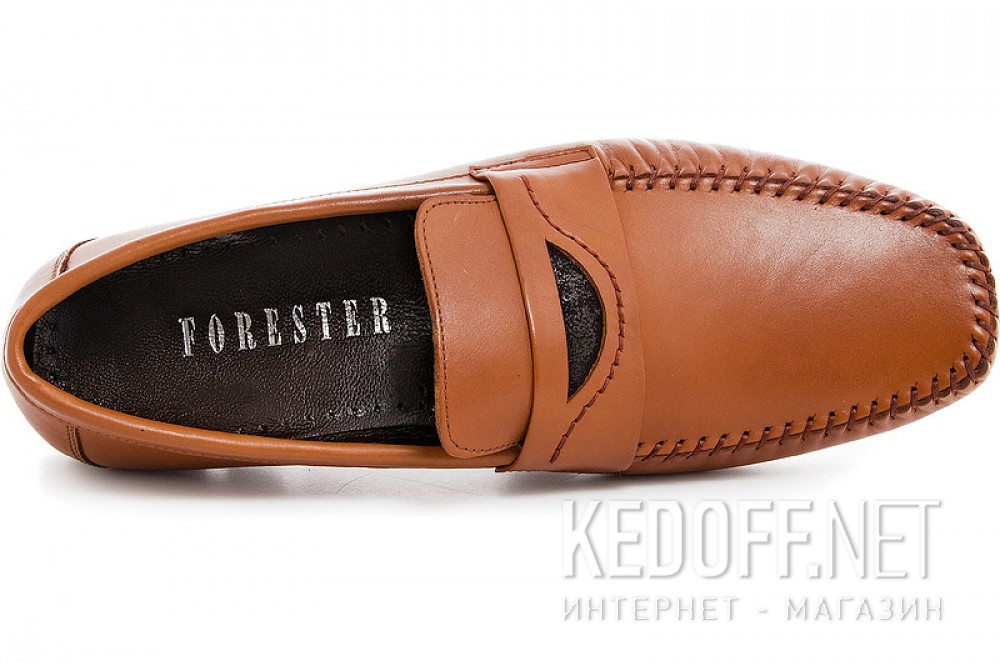Light brown mens moccasins Forester 7532 Leather