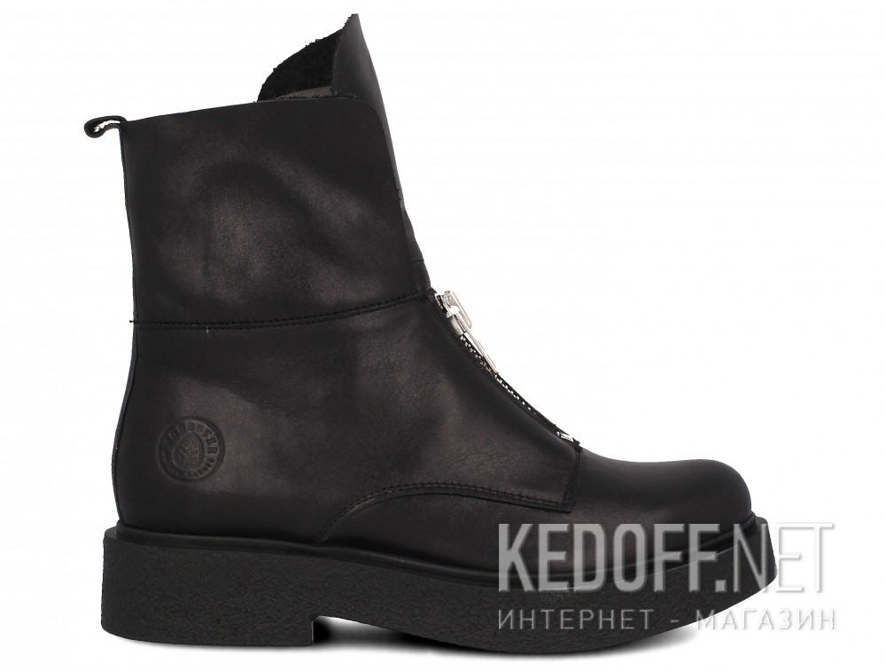Damskie buty Forester Woman Zip Black Mid 81801-27 Na futra  купить Украина