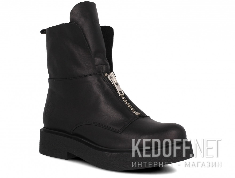 Damskie buty Forester Woman Zip Black Mid 81801-27 Na futra
