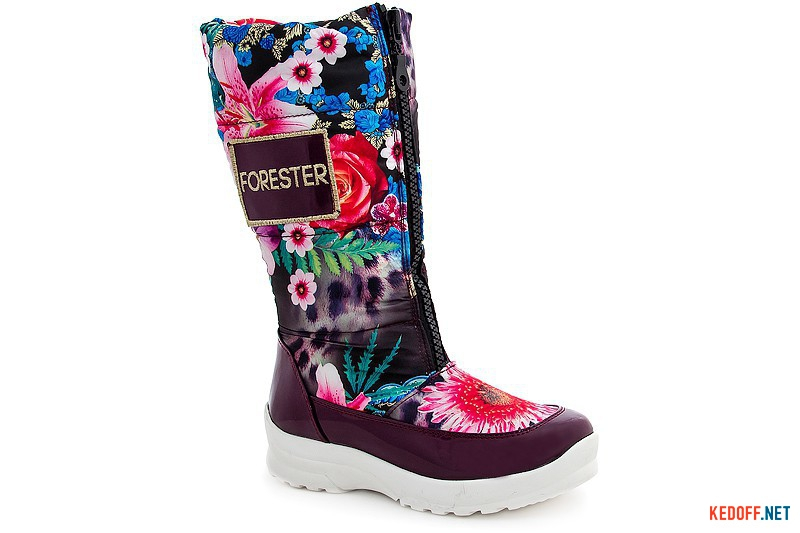 Women's snowboots Forester 9860-0697-2413 Flowers