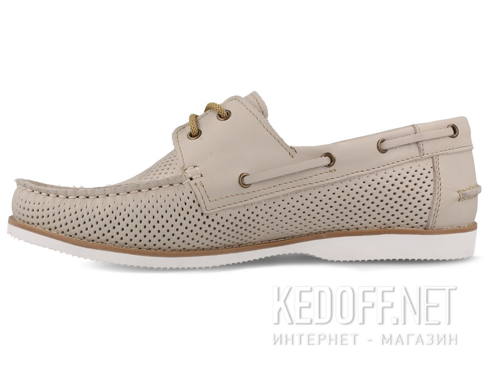 Топсайдеры Forester Perforation 4070-37 унисекс   (бежевый/серый) купить Киев