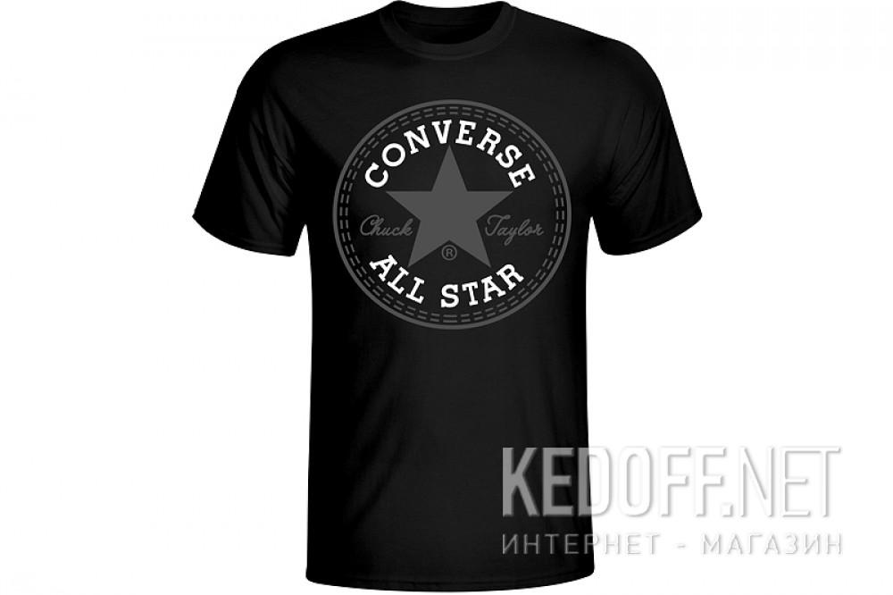 Купить Мужская футболка Converse All Star T-shirt 123-105 чёрная