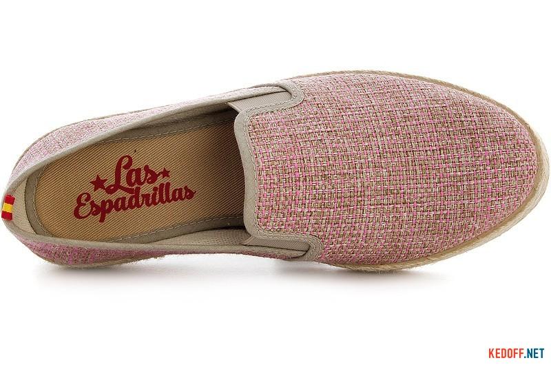 Испанские мокасины Las Espadrillas Fv5563 Розовые