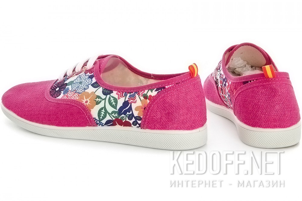 Розовые кеды Las Espadrillas Pink Rose Fv5800 Made in Spain