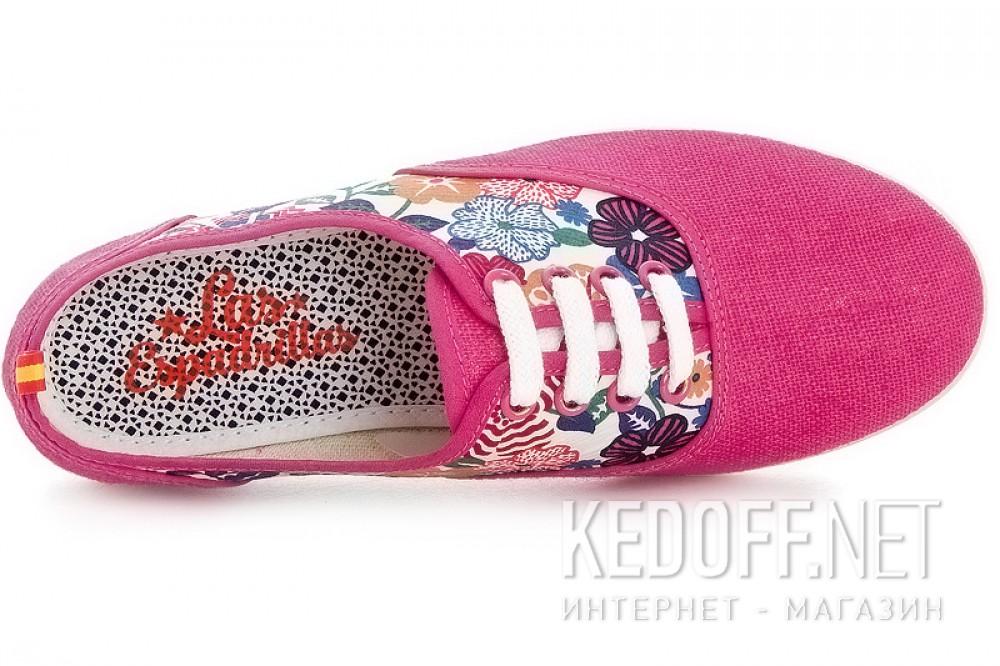 Рожеві кеди Las Espadrillas Pink Rose Fv5800 Made in Spain