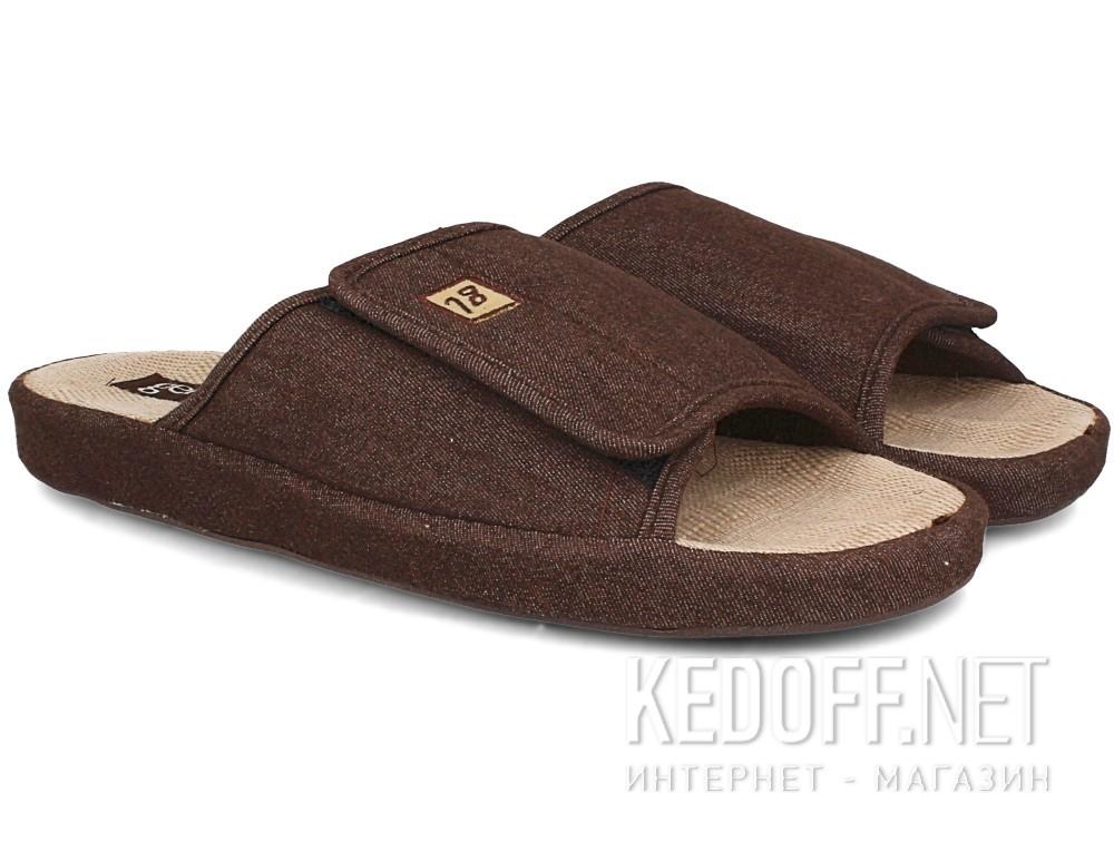 Мужские тапочки Gemelli 130393-45 (коричневый) купить Киев