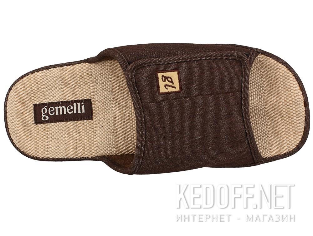 Оригинальные Мужские тапочки Gemelli 130393-45 (коричневый)