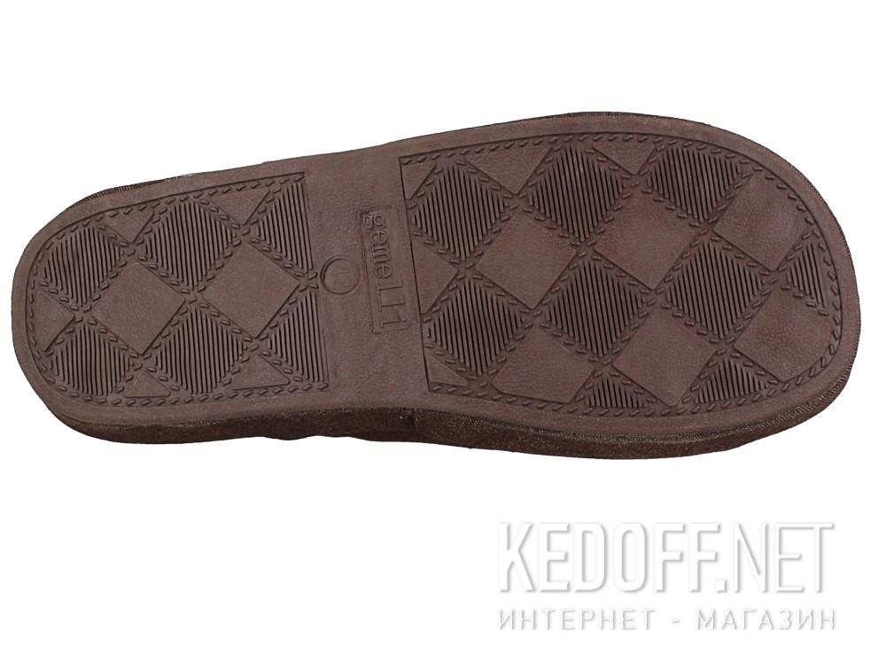 Мужские тапочки Gemelli 130393-45 (коричневый) описание
