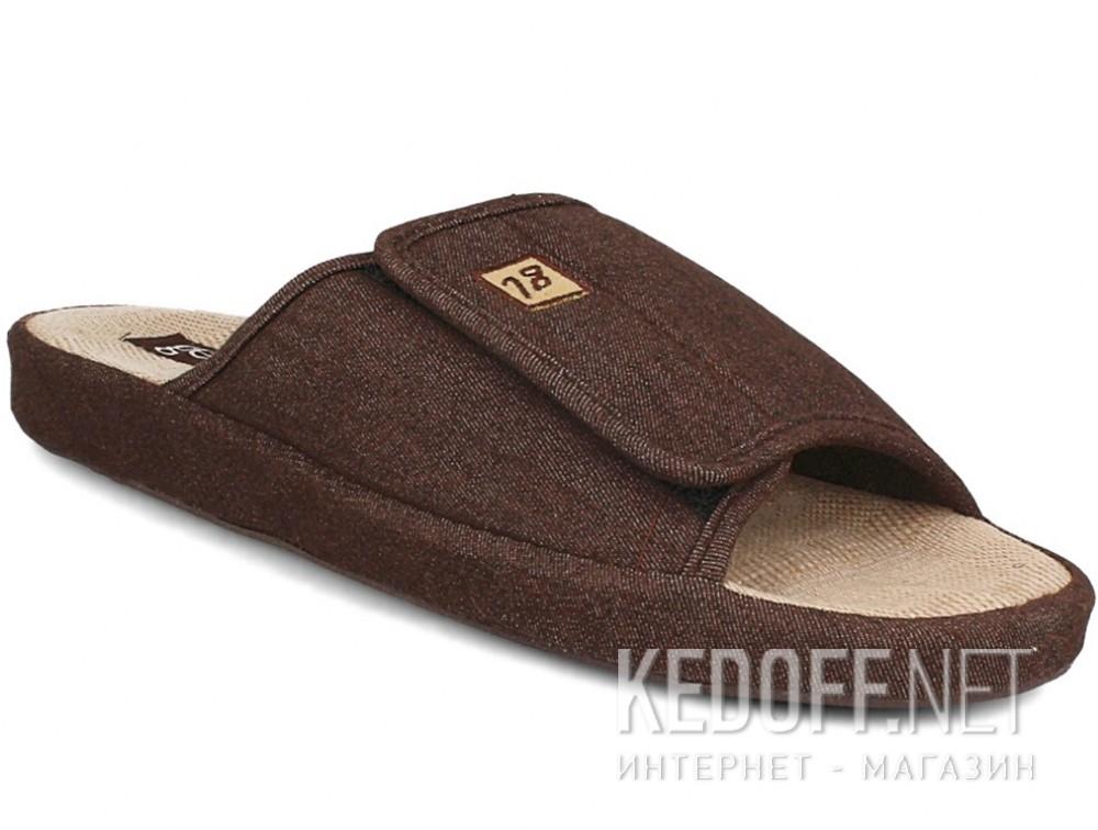 Купить Мужские тапочки Gemelli 130393-45 (коричневый)