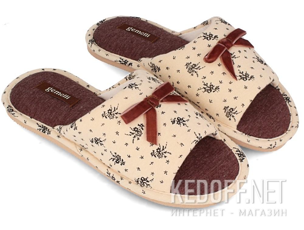 Домашние тапочки Gemelli 14021-18  (песочный) купить Украина