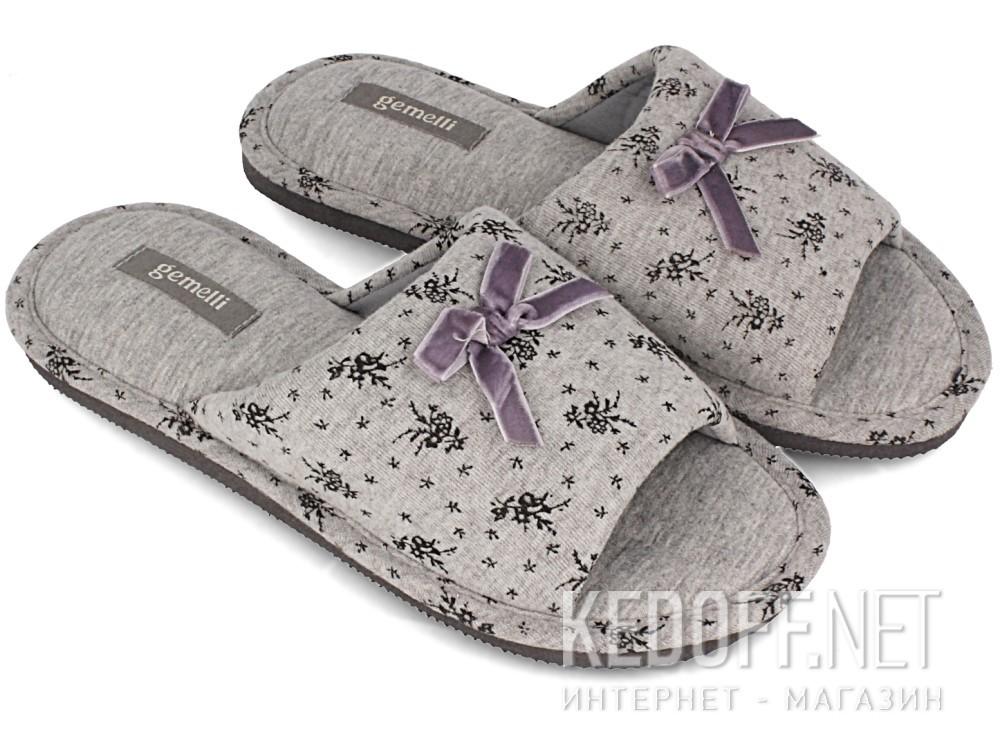 Женские шлепанцы Gemelli 14021-37 (серый) купить Украина