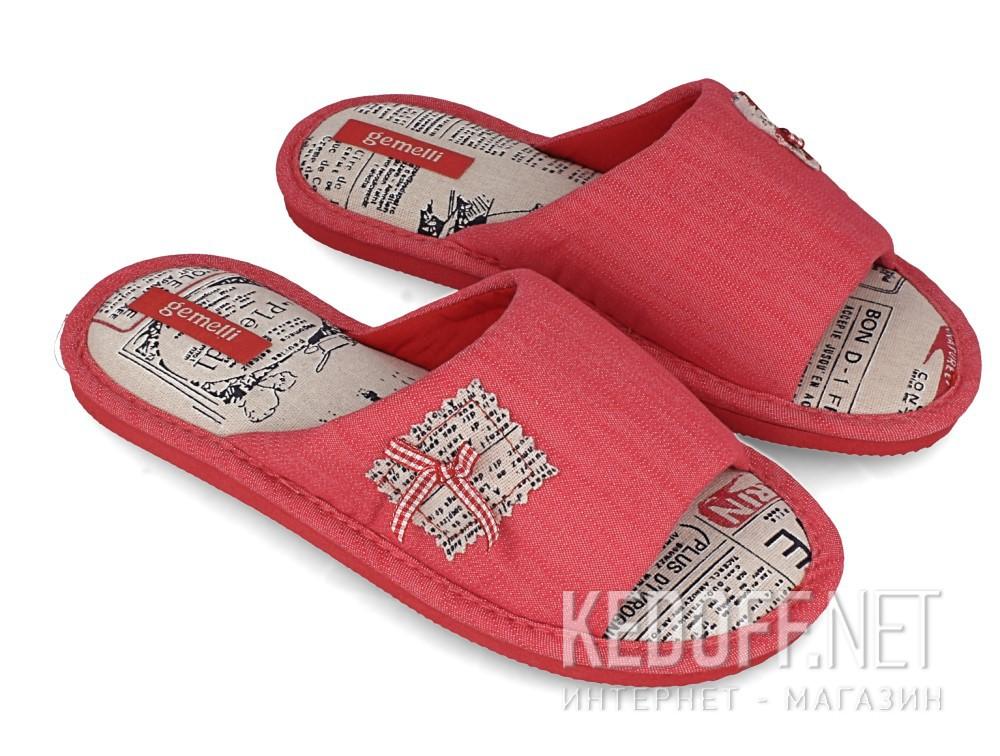 Женские шлепанцы Gemelli 1601357-34 (розовый) купить Украина
