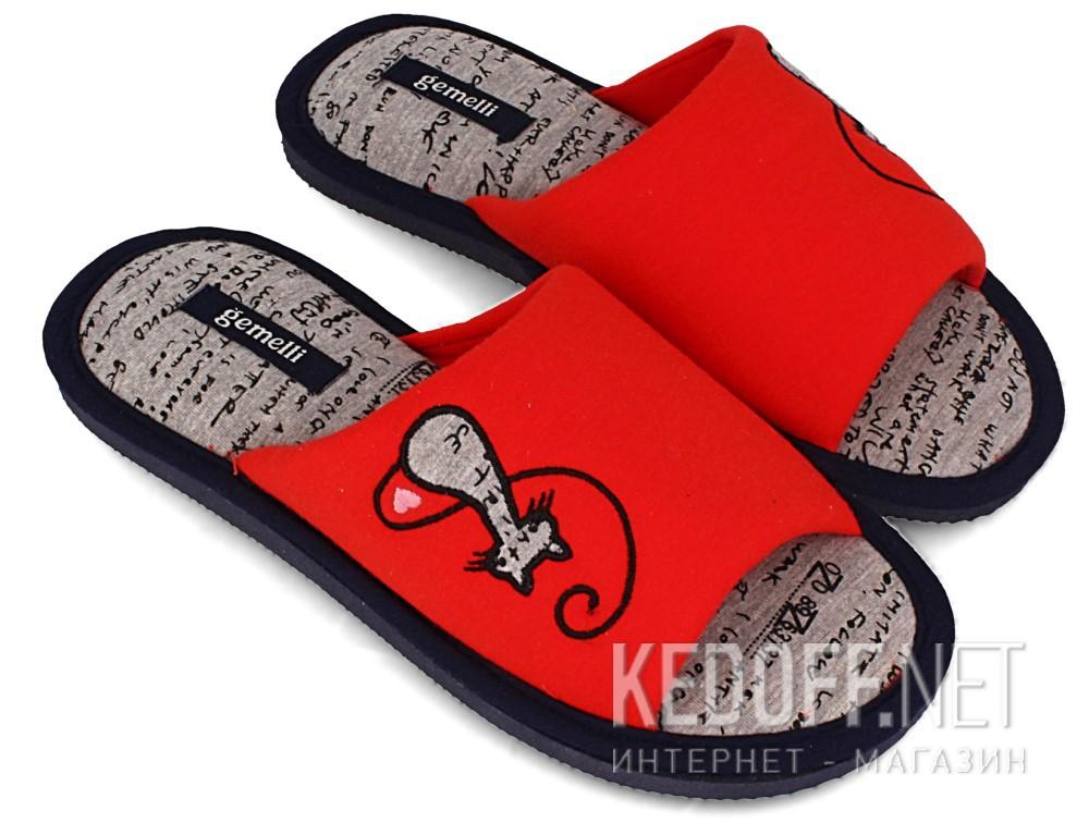 Шлепанцы Gemelli 1601484-47 унисекс (красный) купить Украина
