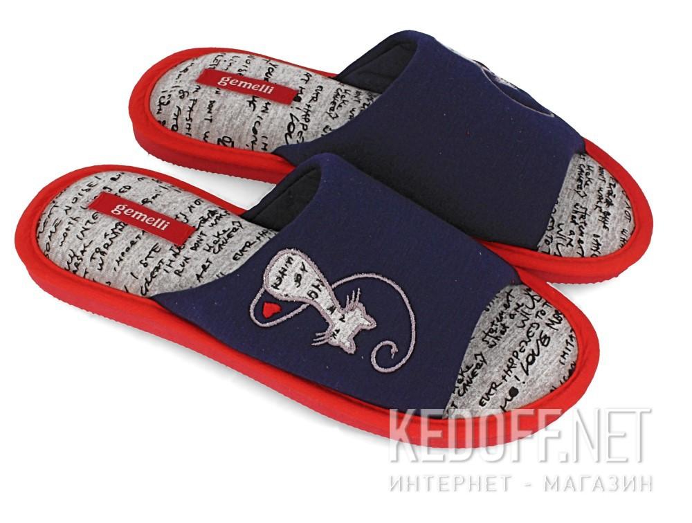 Женские шлепанцы Gemelli 1601484-89 (тёмно-синий) купить Украина