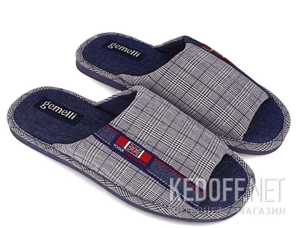Мужские тапочки Gemelli 160634-3789 (синий) купить Украина